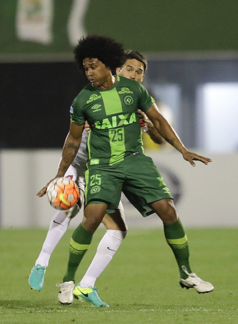 在29日空難中喪生的「查比高恩斯隊」前鋒坎佩斯(Everton Kempes dos Santos Gonçalves)。(美聯社)