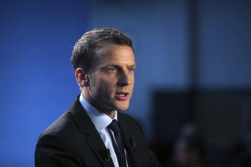 獨立參選的法國前經濟部長馬克宏。(美聯社)
