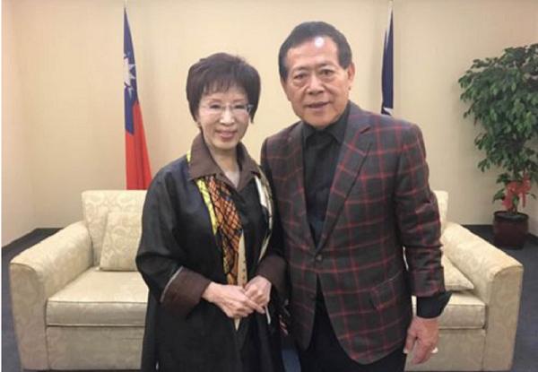 2016年11月18日,海霸王總裁莊榮德赴國民黨中央黨部拜會主席洪秀柱,談及海霸王在大陸投資的計畫。(中國企業新聞網)