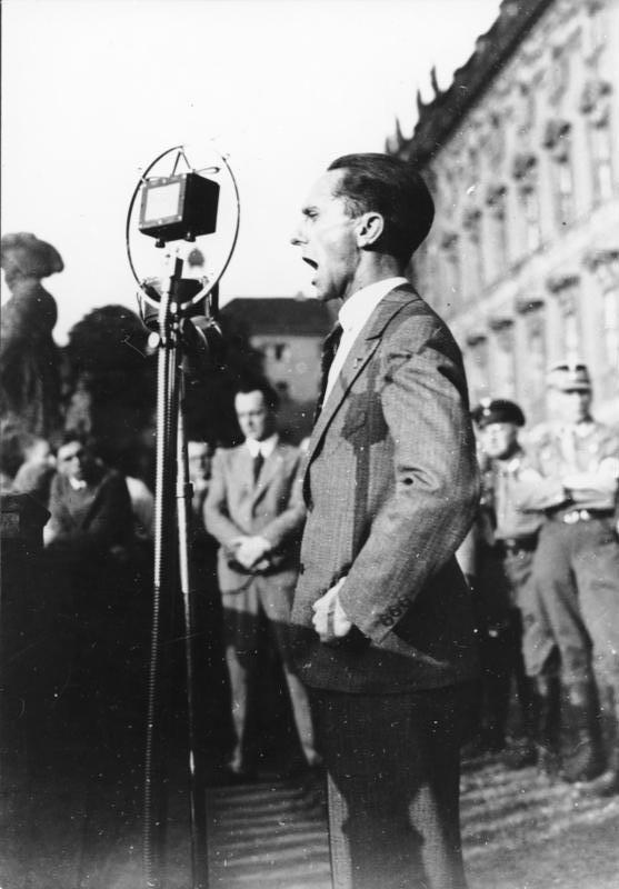 納粹德國的宣傳部部長戈培爾(Paul Joseph Goebbels)。(Bundesarchiv@wikipedia/CC BY-SA 3.0)