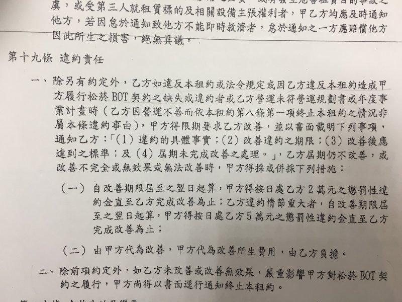 2016-12-05-台北文創與誠品生活的契約-內含終約條款-許淑華辦公室提供