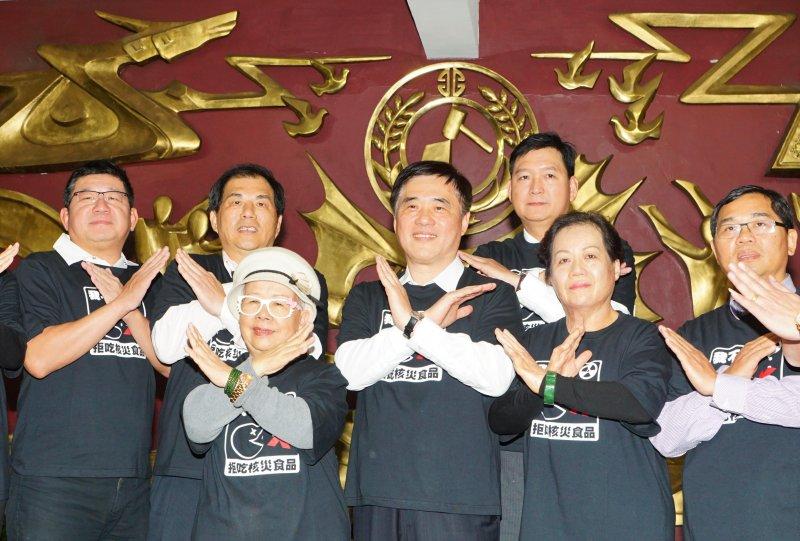 郝龍斌於新北市議會黨團舉行挺食安公投記者會。(盧逸峰攝)