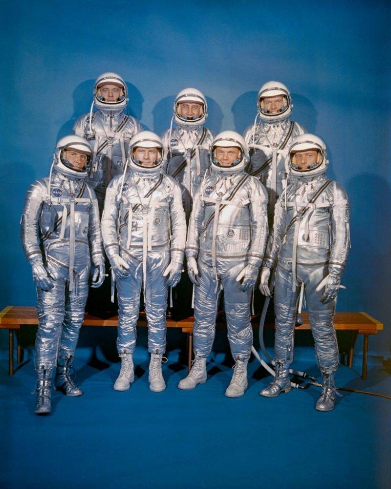 美國NASA水星計畫的七名成員(取自NASA官網)
