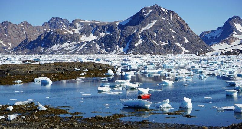 格陵蘭的大規模冰原在過去140萬年間,至少曾融化過1次(取自Pixabay)