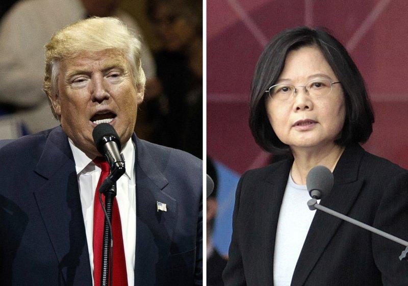美國總統當選人川普與總統蔡英文通話,引發北京抗議。(美聯社)