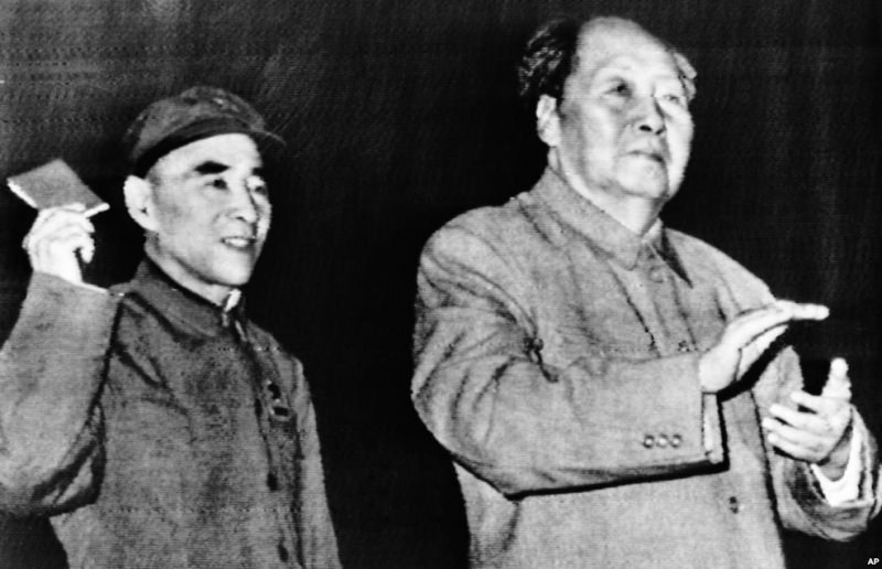毛澤東(右)和林彪(左)(AP)
