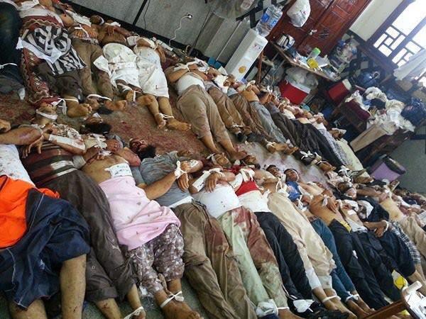 政府軍攻進阿勒坡平民死傷慘重,敘利亞民眾拍下悲傷一景。(圖/劉長政提供)