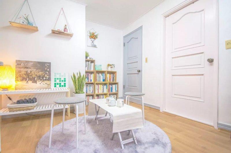 一個韓國Airbnb屋主,透過租屋看見世界。(圖/Airbnb, Backpacker's room@Hongdae提供)