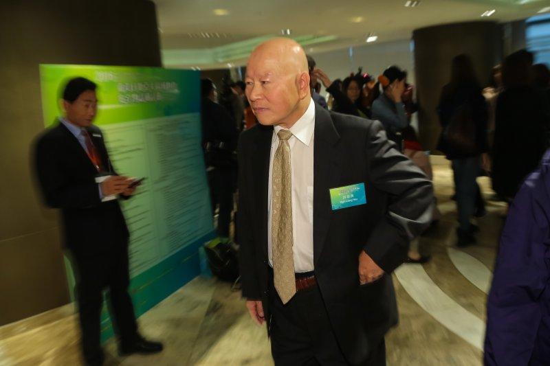 20161214-亞太基金會董事長許信良14日出席「臺美日暨亞太區域夥伴安全對話研討會」。(顏麟宇攝)