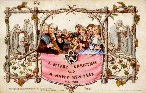 (圖/這由高爾爵士策劃的賀卡,被視為世界上第一張聖誕卡,Outside提供)