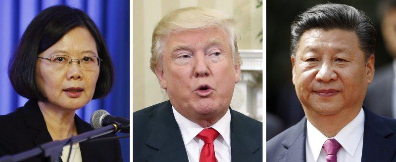 台灣總統蔡英文、美國當選人川普、中國國家主席習近平(AP合成)