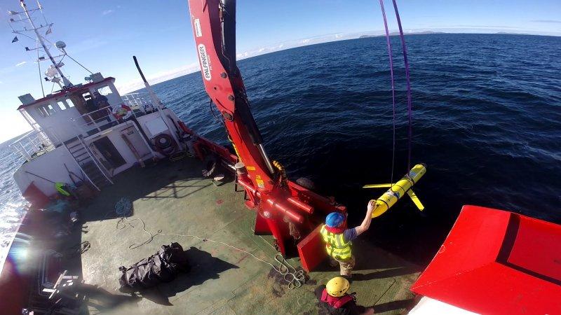 美國聲稱被中國海軍非法劫走的無人潛航器。(美國國防部)