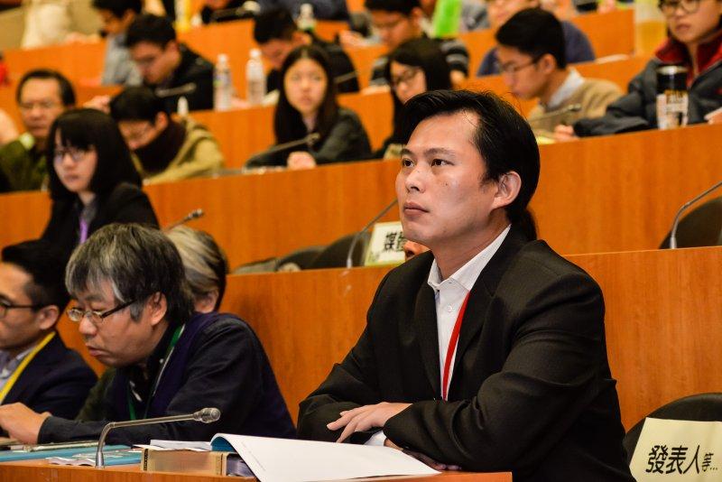 161218-「更新主權的想像 實踐當代的主體」學術研討會,時代力量執行黨主席黃國昌。(甘岱民攝)