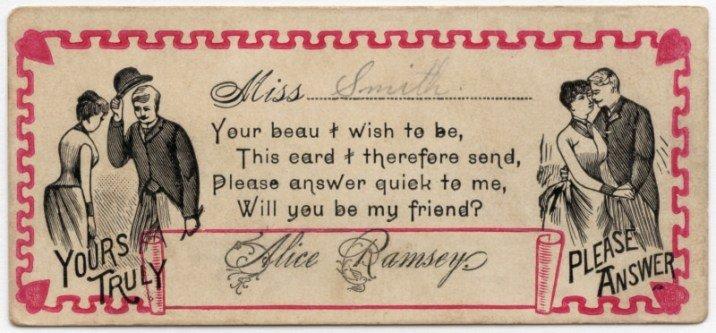 「史密夫小姐:我希望成為妳的伴侶……妳的摯愛,愛麗絲.林茜」(圖/Outside提供)
