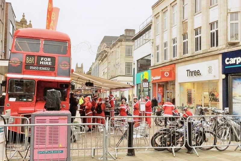 英國因為聖誕節而多了一股生氣。(圖/李秀玲攝影)