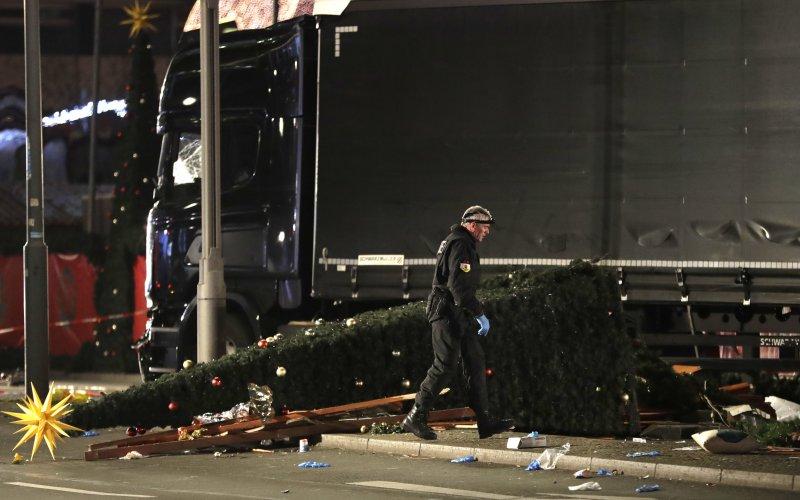 德國首都柏林2016年12月19日驚傳卡車恐怖攻擊,造成數十人慯亡,這是兇嫌使用的車輛(AP)