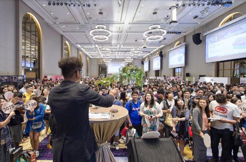 日前在台北萬豪飯店舉辦的結婚採購節,吸引超過一千六百對以上的新人報名參加!(圖/新娘物語雜誌提供)