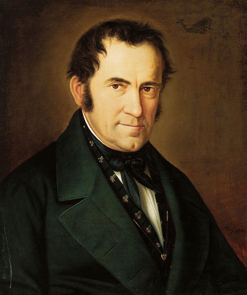 《平安夜》的作曲者葛魯伯(Franz Gruber)。(wikipedia/public domain)