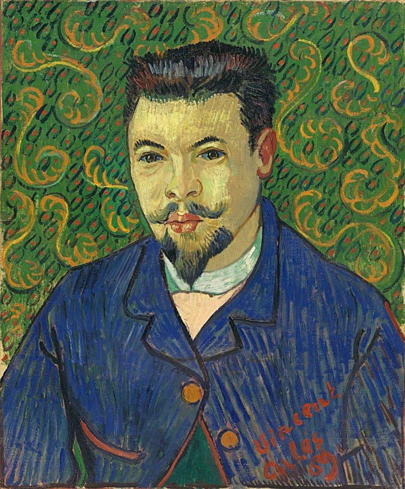 梵谷為雷伊醫生(Félix Rey)所繪的肖像(Wikipedia/Public Domain)