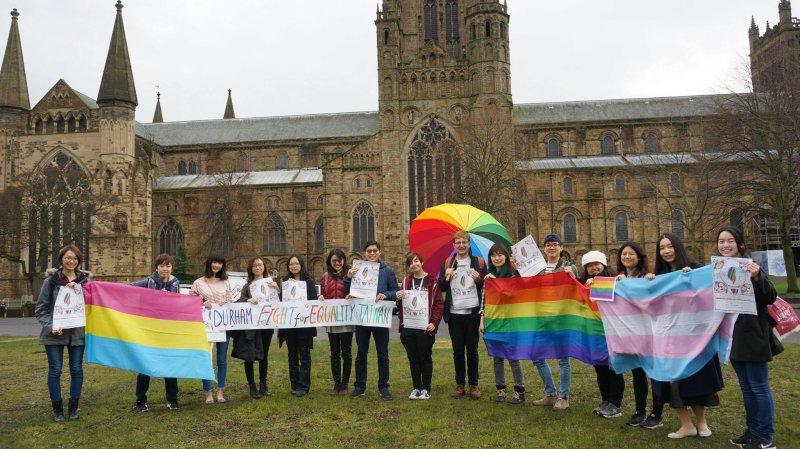 台灣人在英國響應婚姻平權。(海外台灣青年陣線)