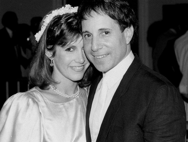 好萊塢女星嘉莉費雪(Carrie Fisher)1983年與名歌手保羅賽門(Paul Simon)結婚(AP)