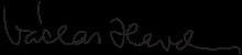 哈維爾(Václav Havel)親筆簽名(Wikipedia/Public Domain)