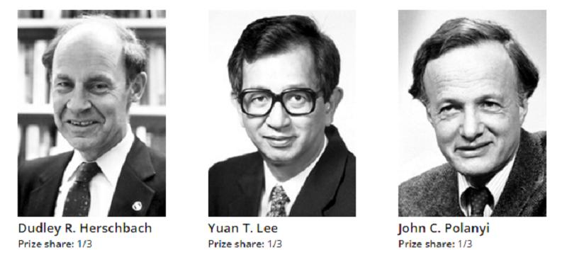 赫托巴赫、李遠哲、波拉尼(來源:諾貝爾獎網頁)