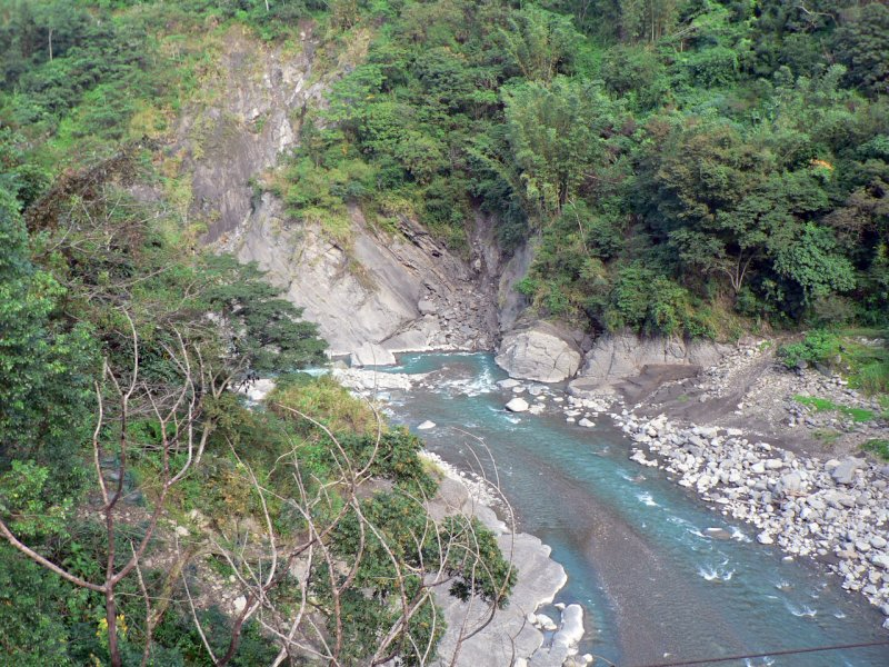 高屏溪川流的取水豐枯變動大,加上近期水位相比往年較低,也需特別留意。(取自  維基百科)