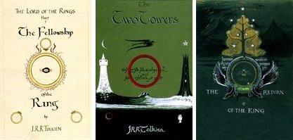 托爾金親自設計的《魔戒》第一版封面(Wikipedia/Fair Use)