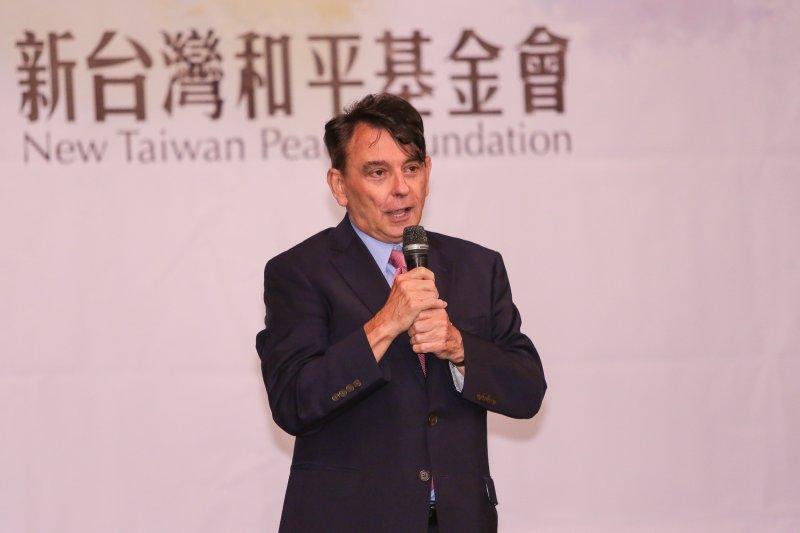 20170106-前美國在台協會處長司徒文6日出席新台灣和平基金會《Taiwan Sentinel台灣守望》新聞網站上線發佈記者會。(顏麟宇攝)