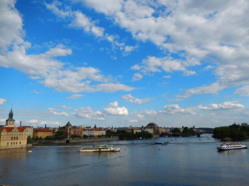 布拉格的伏爾塔瓦河(作者提供)