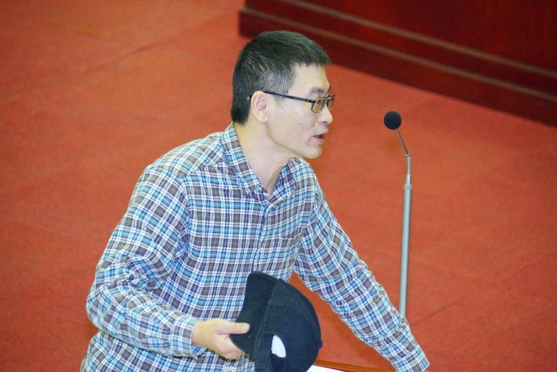 20170109-台北市議員梁文傑。(盧逸峰攝)