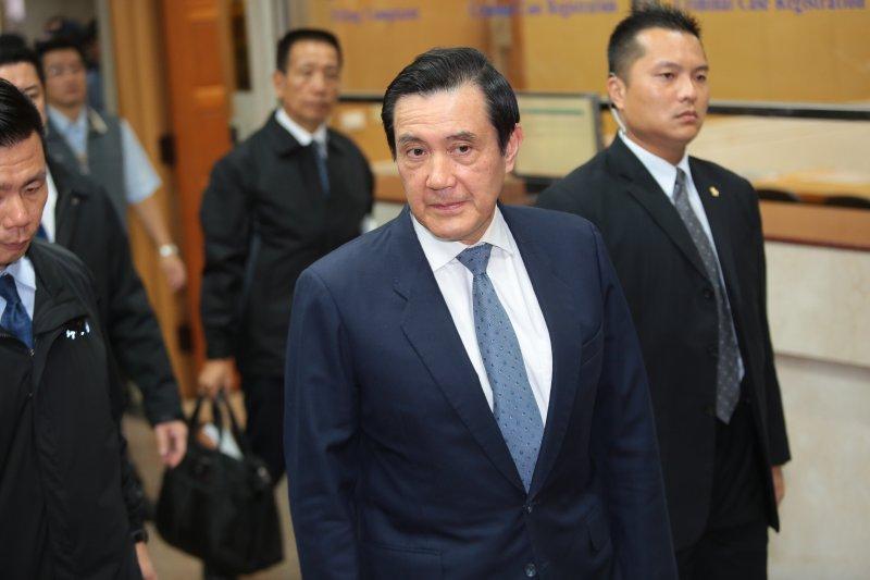 20170110-前總統馬英九10日至台北地方法院出庭。(顏麟宇攝)