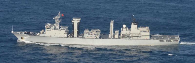 中國海軍太湖艦。(日本統合幕僚監部)