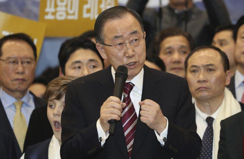 聯合國前秘書長潘基文12日返回南韓,準備投入總統大選(AP)