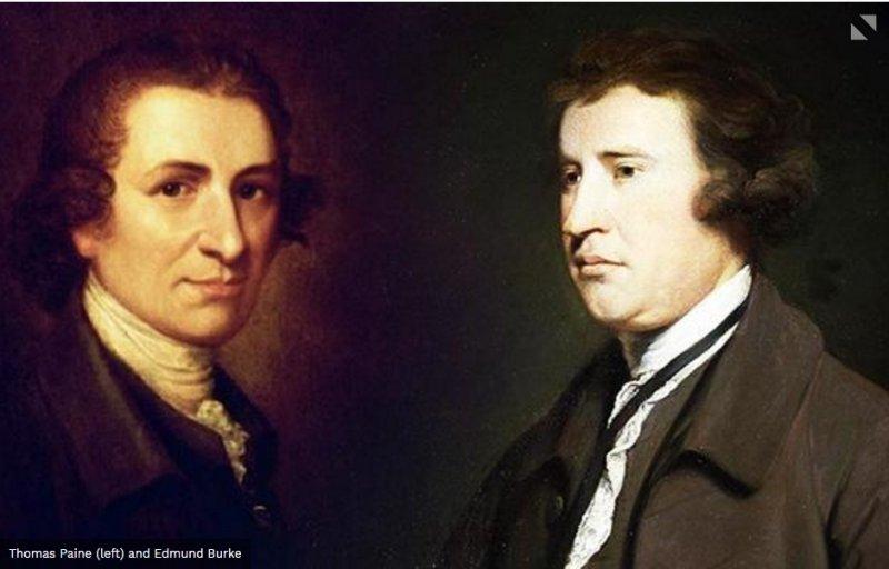圖2:潘恩(Paine)vs.伯克(Burke)。(取自國家評論)