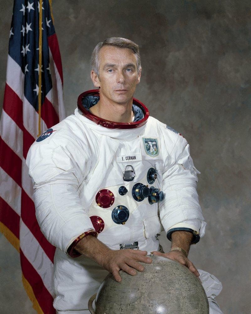 美國最後一位登月的太空人、阿波羅17號指揮官賽南16日辭世,享壽82歲。(美聯社)