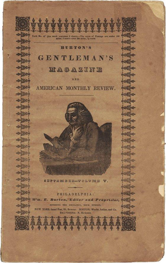 1839年9月的《波頓紳士雜誌》,內容包括愛倫坡的《厄舍府的沒落》(Wikipedia/PD-US)