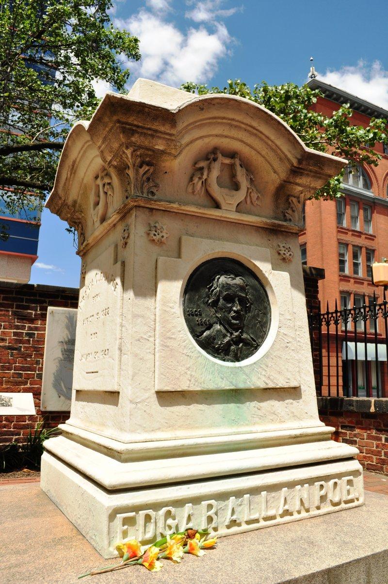 愛倫坡之墓,位在巴爾的摩(Wikipedia/Public Domain)