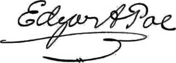 愛倫坡的親筆簽名(Wikipedia/Public Domain)