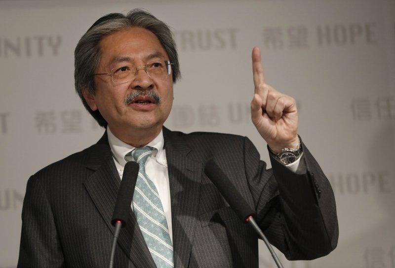 香港前財政司司長曾俊華19日宣布參選特首(AP)