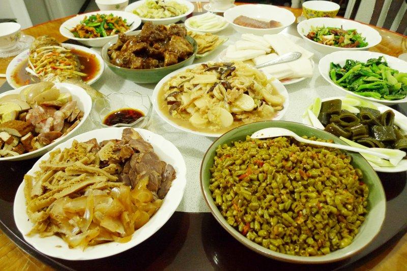 農曆年、春節、年夜飯、除夕、大餐。(取自flicker@Blowing Puffer Fish)