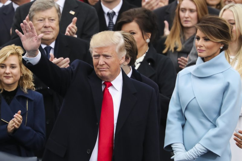 川普20日在華府宣誓就職,正式成為美國第45位總統。(美聯社)
