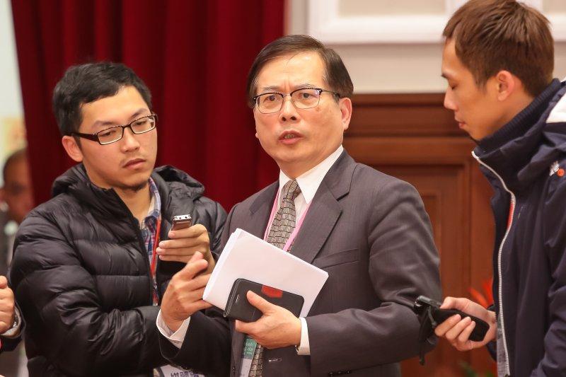 20170122-勞動部長郭芳煜22日於年金改革國是會議全國大會後出席說明記者會。(顏麟宇攝)
