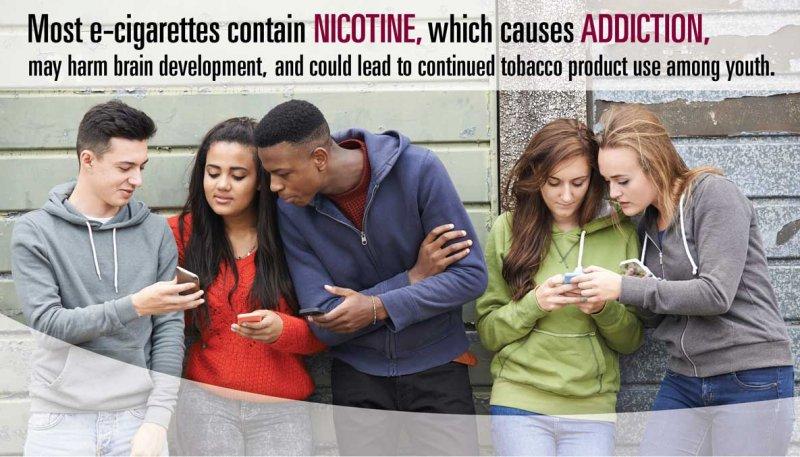 美國政府的電子菸防治廣告,吸菸有害身體健康(Wikipedia / Public Domain)
