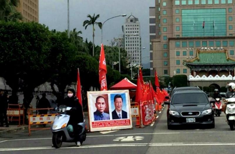紅派、統派活動在台灣是寂寞但安全的。(胡發雲提供)