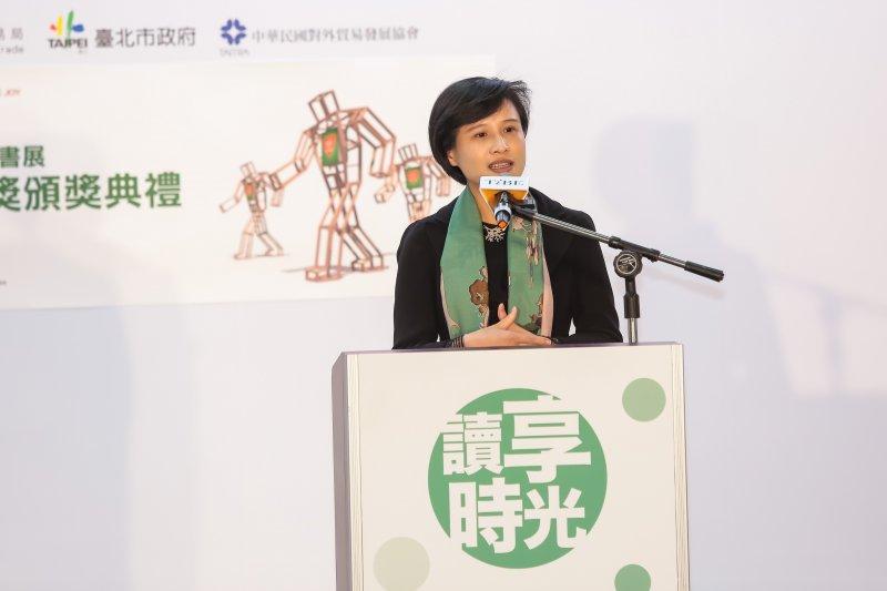 20170208-文化部長鄭麗君8日出席「第25屆台北國際書展」開幕記者會。(顏麟宇攝)