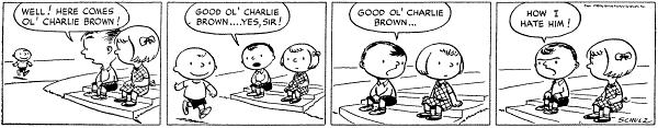 1950年10月2日,第一幅《花生漫畫》(Wikipedia/Fair Use)