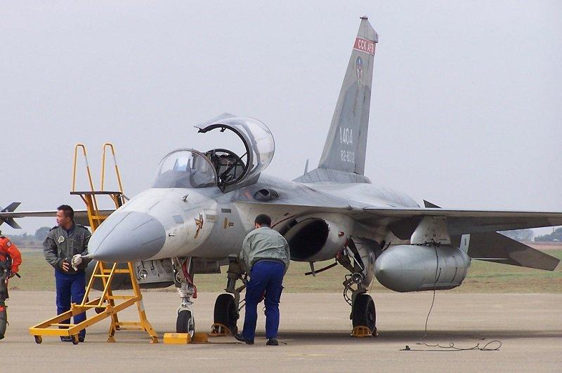 先導生產型單座經國號戰機。(來源:Chang-Song Wang/維基百科)