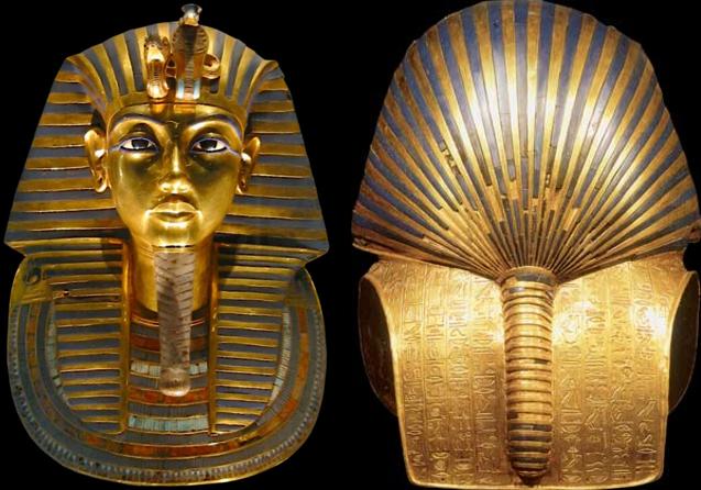 圖坦卡門黃金面具。(圖/Carsten Frenzl @wikipedia)